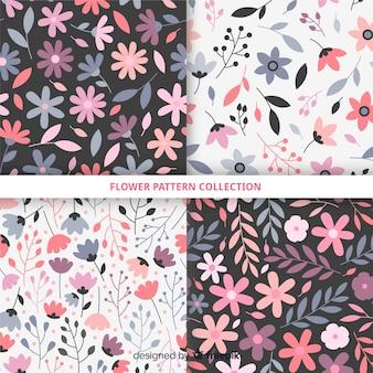Ręcznie rysowane kolekcja kwiat wzór