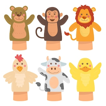 Ręcznie rysowane kolekcja lalek