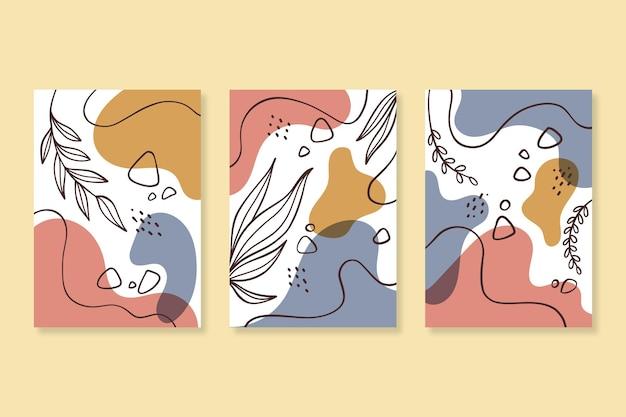 Ręcznie rysowane kolekcja minimalnych okładek