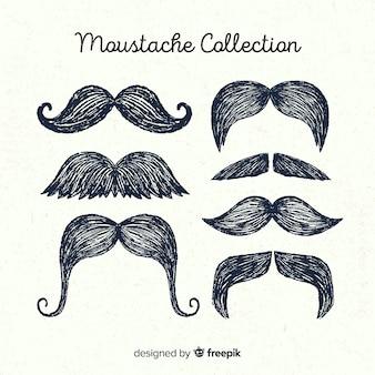 Ręcznie rysowane kolekcja pack wąs wącha