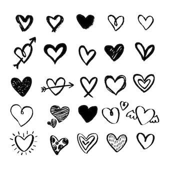 Ręcznie rysowane kolekcja serca