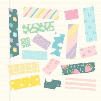 Ręcznie rysowane kolekcja taśmy washi