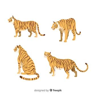 Ręcznie rysowane kolekcja tygrysa stylu