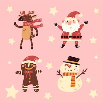Ręcznie rysowane kolekcja znaków świątecznych