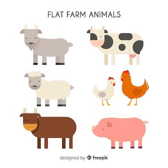 Ręcznie rysowane kolekcja zwierząt gospodarskich