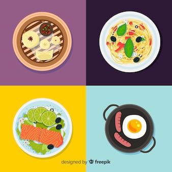 Ręcznie rysowane kolekcji danie żywności