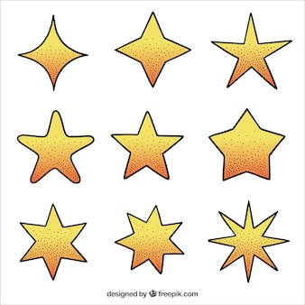 Ręcznie rysowane kolekcji gwiazdek