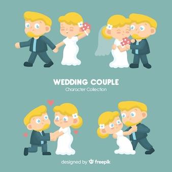 Ręcznie rysowane kolekcji para ślub