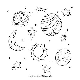 Ręcznie rysowane kolekcji planet