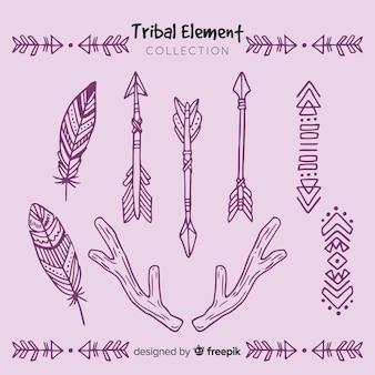 Ręcznie rysowane kolekcji plemiennych elementów