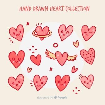 Ręcznie rysowane kolekcji serca