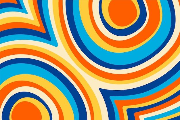 Ręcznie rysowane kolorowe groovy psychodeliczne tło