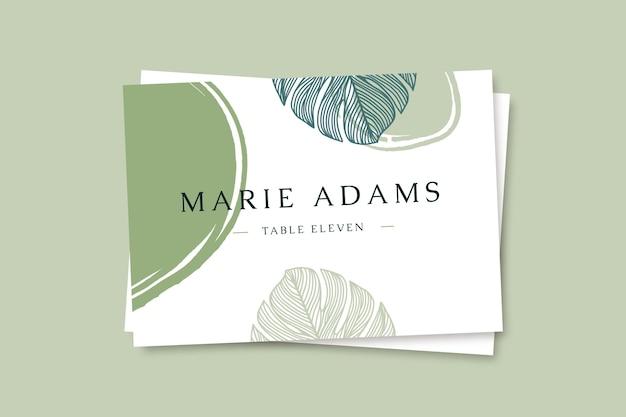 Ręcznie rysowane kolorowe karty ślubne
