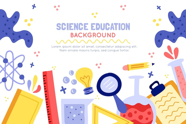 Ręcznie rysowane kolorowe nauki edukacja tło