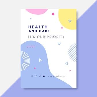 Ręcznie rysowane kolorowe plakaty medyczne
