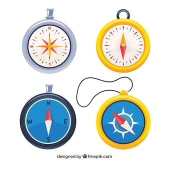 Ręcznie rysowane kompas mapę