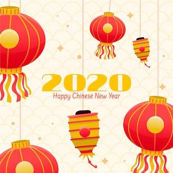Ręcznie rysowane koncepcja chińskiego nowego roku