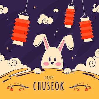 Ręcznie rysowane koncepcja chuseok