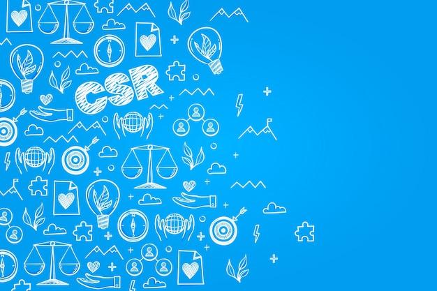 Ręcznie rysowane koncepcja csr
