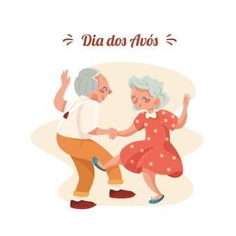 Ręcznie rysowane koncepcja dia dos avos