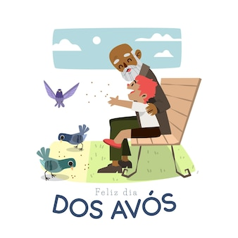 Ręcznie rysowane koncepcja dia dos avós