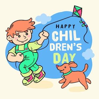 Ręcznie rysowane koncepcja dzień dla dzieci