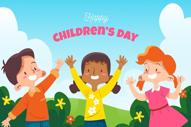 Ręcznie rysowane koncepcja dzień dziecka świata