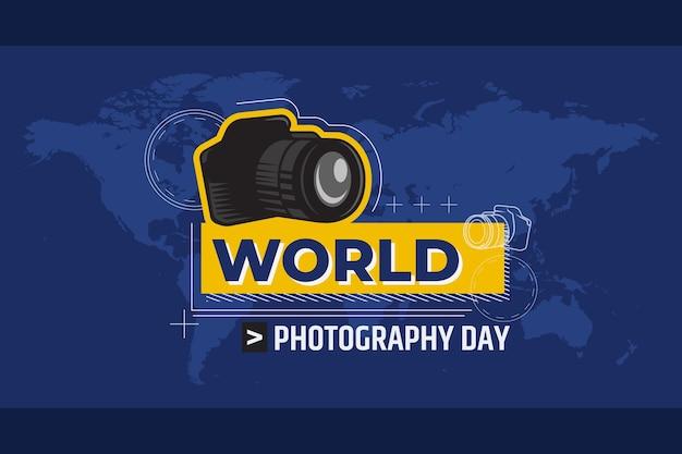 Ręcznie rysowane koncepcja dzień fotografii świata