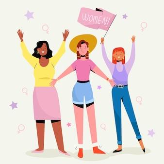 Ręcznie rysowane koncepcja dzień kobiet