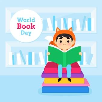 Ręcznie rysowane koncepcja dzień książki świata