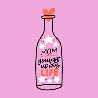 Ręcznie rysowane koncepcja dzień matki