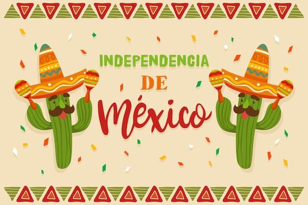 Ręcznie rysowane koncepcja dzień niepodległości meksyku