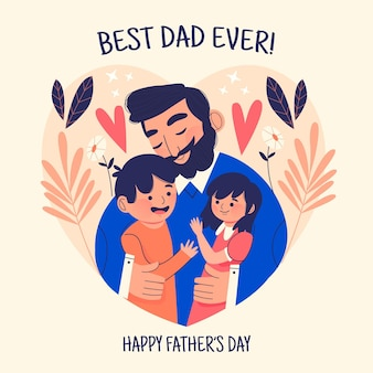 Ręcznie rysowane koncepcja dzień ojca