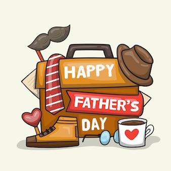 Ręcznie rysowane koncepcja dzień ojców