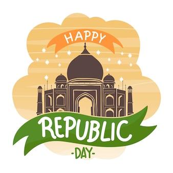 Ręcznie rysowane koncepcja dzień republiki indii