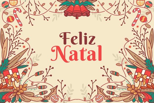 Ręcznie rysowane koncepcja feliz natal