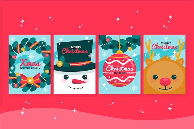 Ręcznie rysowane koncepcja kartki świąteczne
