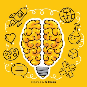 Ręcznie rysowane koncepcja myślenia