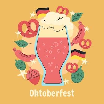 Ręcznie rysowane koncepcja oktoberfest