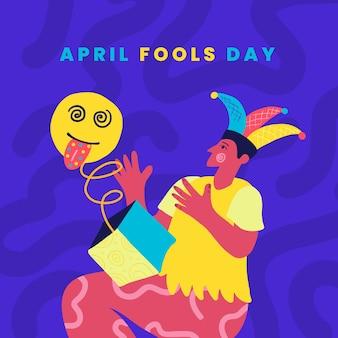 Ręcznie rysowane koncepcja prima aprilis