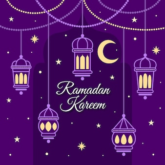 Ręcznie rysowane koncepcja ramadanu
