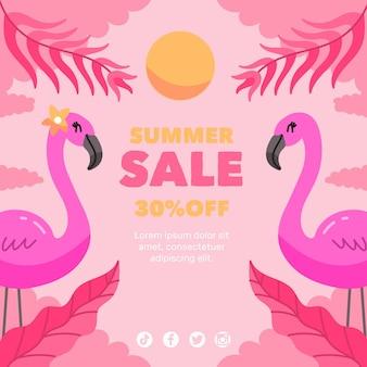 Ręcznie rysowane koncepcja sprzedaży lato