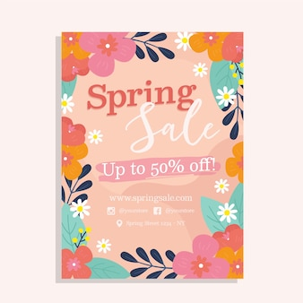 Ręcznie rysowane koncepcja sprzedaży wiosna