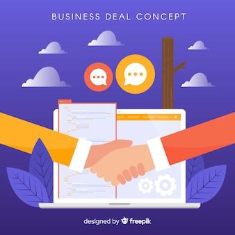 Ręcznie rysowane koncepcja transakcji biznesowych