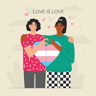 Ręcznie rysowane koncepcja zatrzymania transfobii