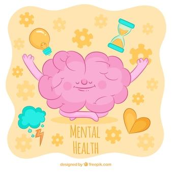 Ręcznie rysowane koncepcja zdrowia psychicznego