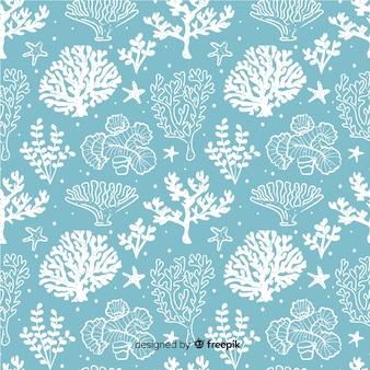 Ręcznie rysowane koral wzór