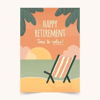 Ręcznie rysowane kreatywnych emerytury z życzeniami