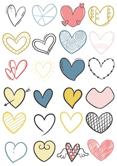 Ręcznie rysowane kulas serca