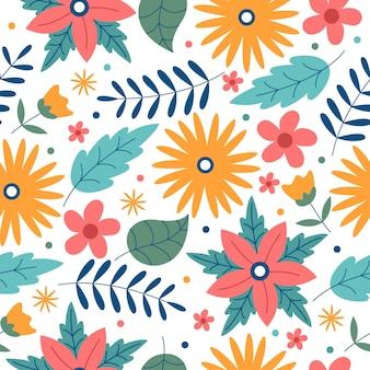 Ręcznie rysowane kwiatki bez szwu